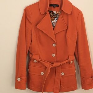 Orange Nine West  jacket fully lined size 10